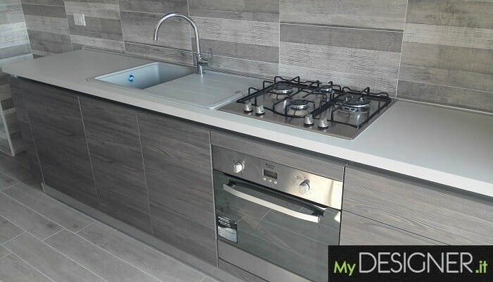Cucina con gole alluminio Cusano Milanino